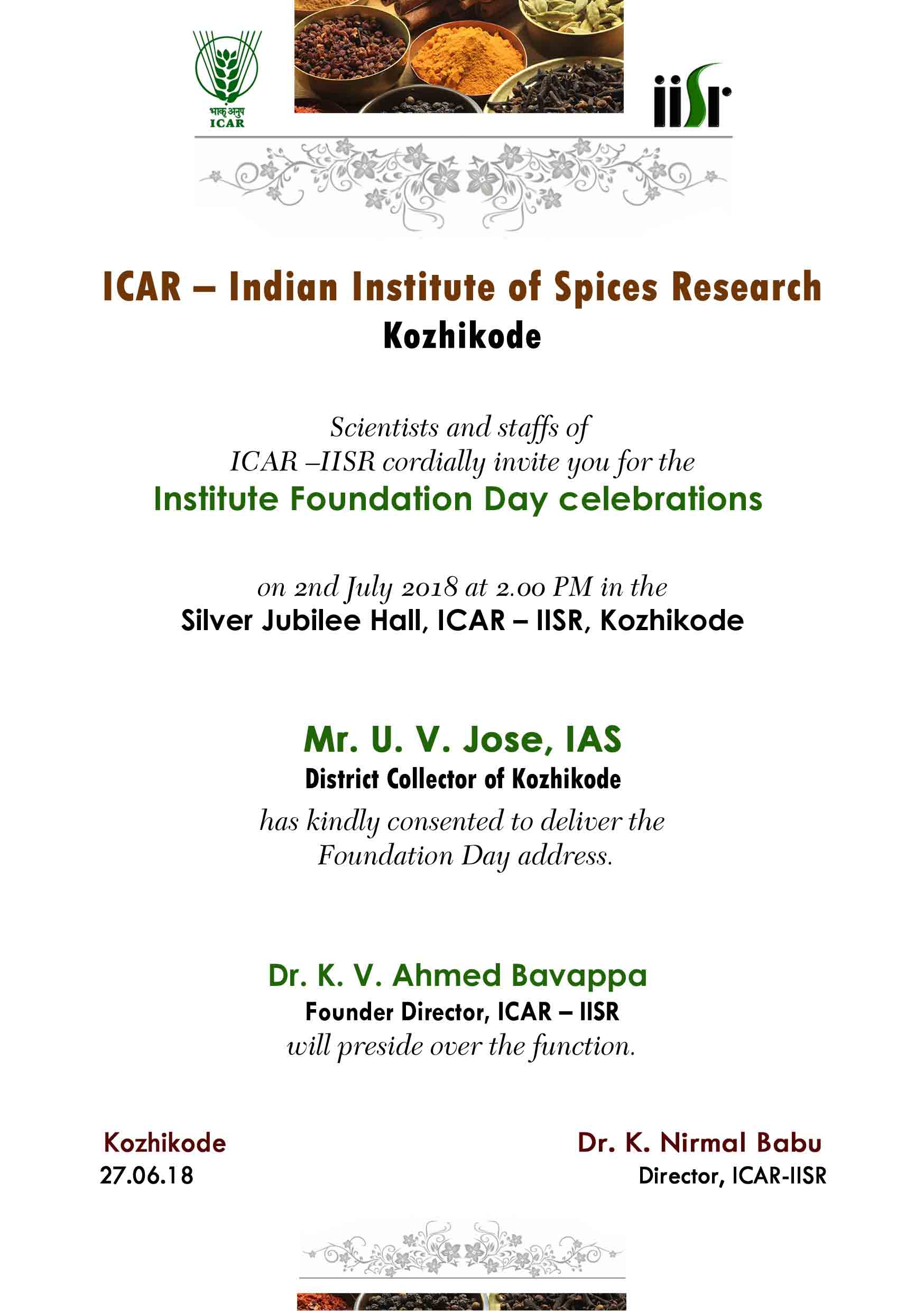 Institute Foundation Day Celebration on 2 July 2018
